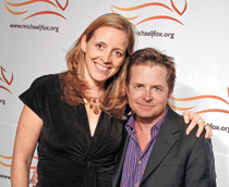 Image of Katie Hood and Michael J. Fox